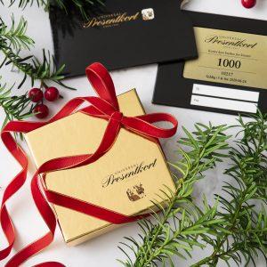 Gavekort med innpakning fra Universal Presentkort
